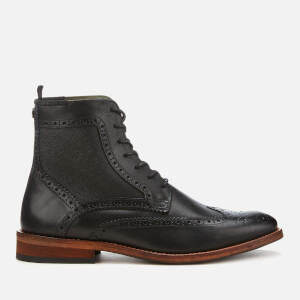 Barbour Men's Belford Leather Brogue Lace Up Boots - Black