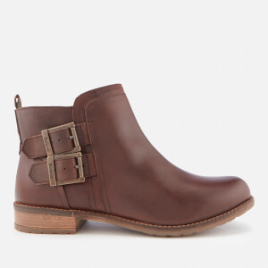 Barbour Women's Sarah Leather Low Buckle Boots - Wine