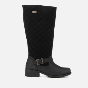 Barbour Women's Sorrento Water Resistant Tall Quilted Boots - Black