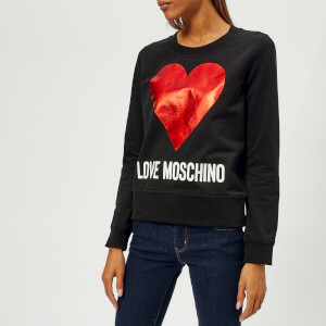 Love Moschino Women's Heart Logo Sweatshirt - Black