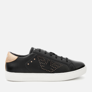 Emporio Armani Women's Shara Logo Low Top Trainers - Black/Nude