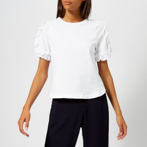 See By Chloé Women's Short Sleeve Top - White Powder