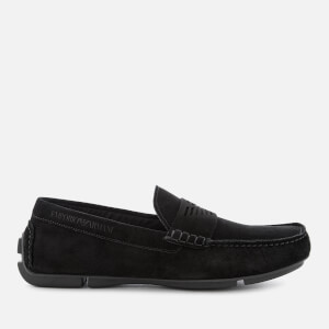 Emporio Armani Men's Suede Loafers - Black