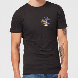 T-Shirt Homme NASA Vintage Rainbow Shuttle - Noir