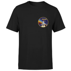 NASA Vintage Rainbow Shuttle T-Shirt - Black