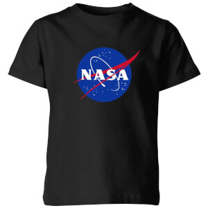 NASA Logo Insignia Kids' T-Shirt - Black