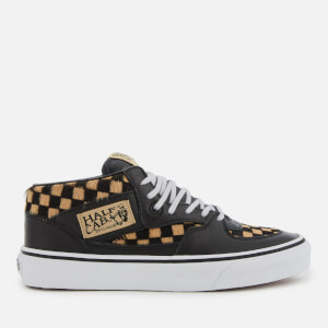 Vans Men's Half Cab Pony Hair Trainers - Checkerboard/True White