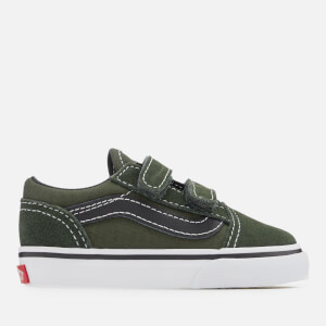 Vans Toddlers' Old Skool Velcro Trainers - Duffel Bag/Black