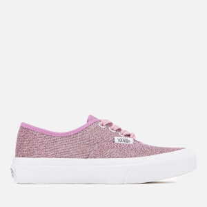 Vans Kids' Authentic Lurex Glitter Trainers - Pink/True White