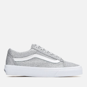 Vans Women's Old Skool Lurex Glitter Trainers - Silver/True White