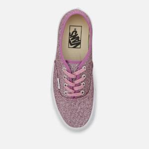 Vans Women's Authentic Lurex Glitter Trainers - Pink/True White: Image 3