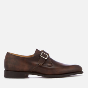 Tricker's Men's Lewiston Museum Leather Monk Shoes - Dark Brown