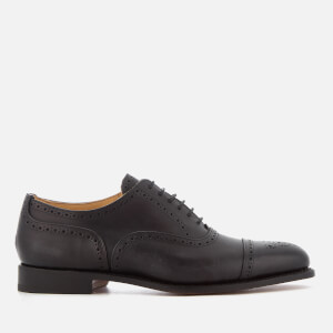 Tricker's Men's Stockton Museum Leather Toe Cap Oxford Shoes - Black