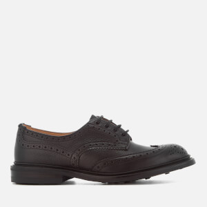Tricker's Men's Bourton Crosshatch Leather Brogues - Black