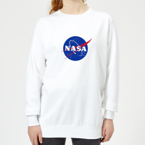 NASA Logo Insignia Women's Sweatshirt - White