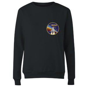NASA Vintage Rainbow Shuttle Women's Sweatshirt - Black