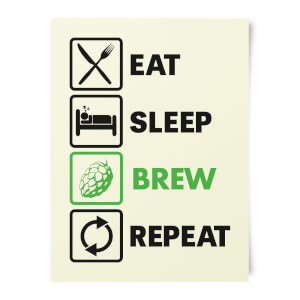 Beershield Eat Sleep Brew Repeat Art Print