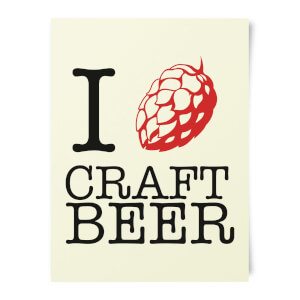 Beershield I Hop Craft Beer Art Print
