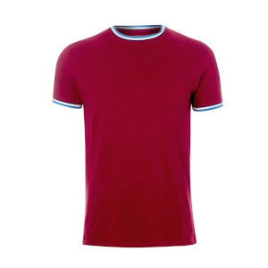 Broken Standard Men's Sacombe Tipped T-Shirt - Rich Red