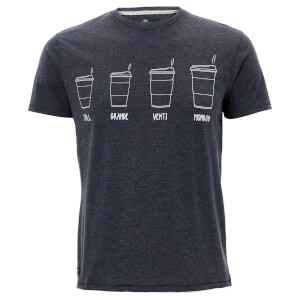 Threadbare Men's Coffee T-Shirt - Navy Marl