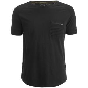 T-Shirt Homme Gilera Poche à Fermeture Éclair Ringspun - Noir