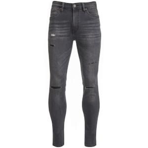 Ringspun Men's Hercules Ripped Skinny Jeans - Gun Metal