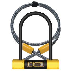 OnGuard Bulldog Mini U-Lock/Cable - 90mm x 140mm x 13mm