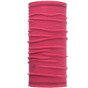Buff Lightweight 3/4 Wool Tubular Headwear - Solid Wild Pink