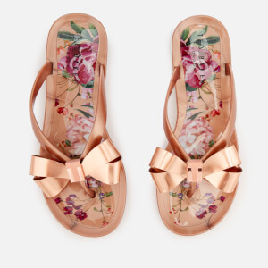 Ted Baker Women's Susziep Bow Flip Flops - Serenity/Rose Gold
