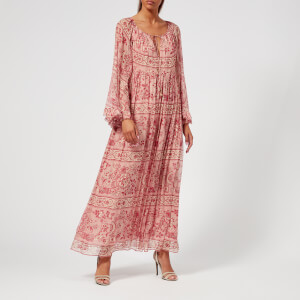 Zimmermann Women's Castile Flared Sleeve Dress - Filigree Stripe