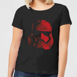 Star Wars Jedi Cubist Trooper Helmet Black Women's T-Shirt - Black