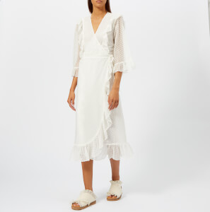 Ganni Women's Jasmine Dress - Egret