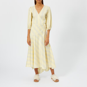 Ganni Women's Bergamot Silk Dress - Vanilla Ice