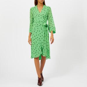 Ganni Women's Dainty Georgette Dress - Classic Green