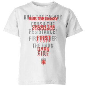 Star Wars Dark Side Echo Weiß Kinder T-Shirt - Weiß