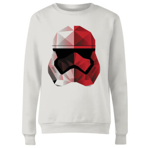 Star Wars Cubist Trooper Helmet White Women's Sweatshirt - White