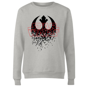 Star Wars Shattered Emblem Damen Pullover - Grau