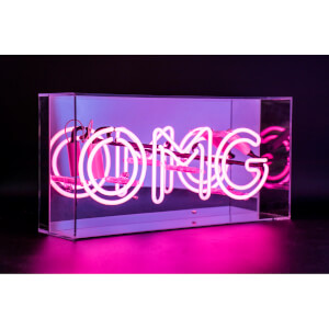 Acrylic Box Neon OMG - Pink