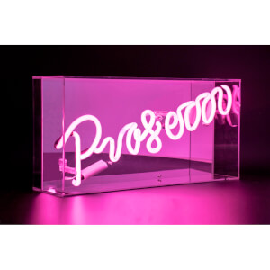 Acrylic Box Neon Prosecco - Pink