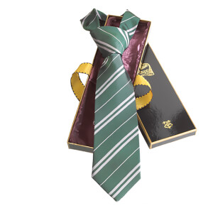 Harry Potter 100% Silk Slytherin Necktie in Madam Malkin's Box