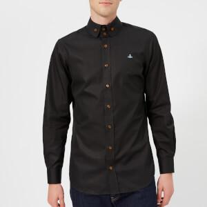 Vivienne Westwood Men's 2 Button Poplin Krall Shirt - Black