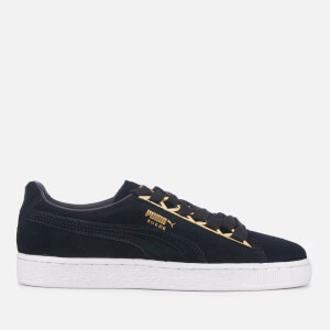 Puma Women's Suede Jewel Metallic Trainers - Puma Black