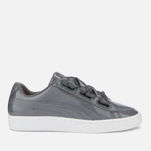 Puma Women's Basket Heart Patent Trainers - Iron Gate
