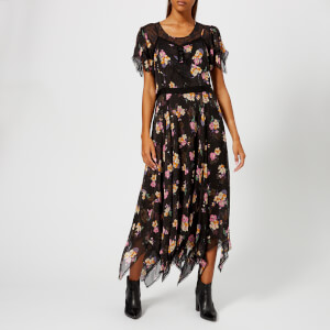 Coach 1941 Women's Embellished Forest Floral Print Dress - Black