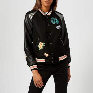 Coach 1941 Women's Disney X Coach Varsity Jacket - Black