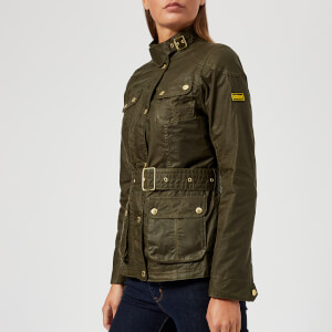 Barbour International Women's International Anglesey Wax Jacket - Olive