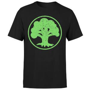 Camiseta Magic The Gathering Maná Verde - Hombre - Negro