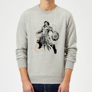 Sweat Homme Gideon Design- Magic : The Gathering - Gris