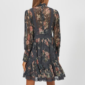 Zimmermann Women's Unbridled Tucked Dress - Ash Garden Floral: Image 2