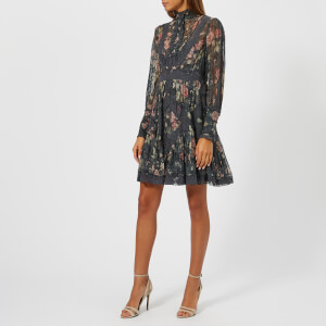 Zimmermann Women's Unbridled Tucked Dress - Ash Garden Floral: Image 3